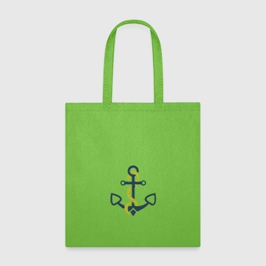 anchor and ropes | fisherman angler sailor - Tote Bag