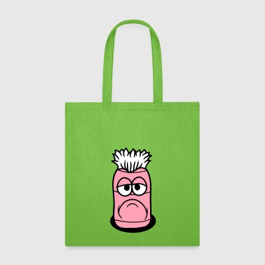 worm hole floor face funny cartoon cartoon clipart - Tote Bag