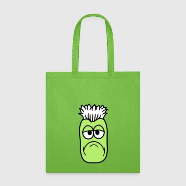 Boredom little monster tired bored boredom face funny cart - Tote Bag
