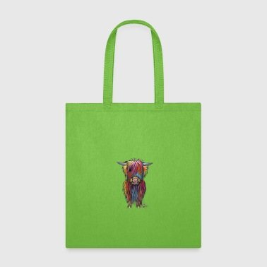 Scottish Highland Cow By Shirley MacArthur - Tote Bag