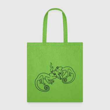 Bride team 2 friends couple party joint smoking kippers - Tote Bag