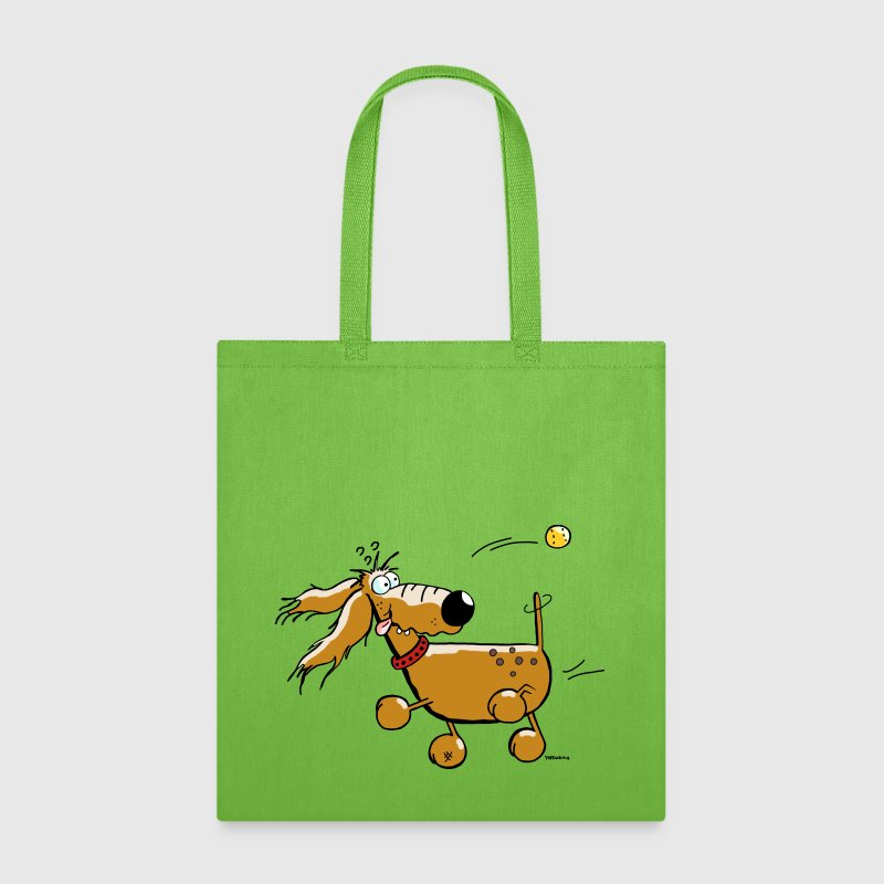 Funny Dog - Ball - Flyball  - Tote Bag