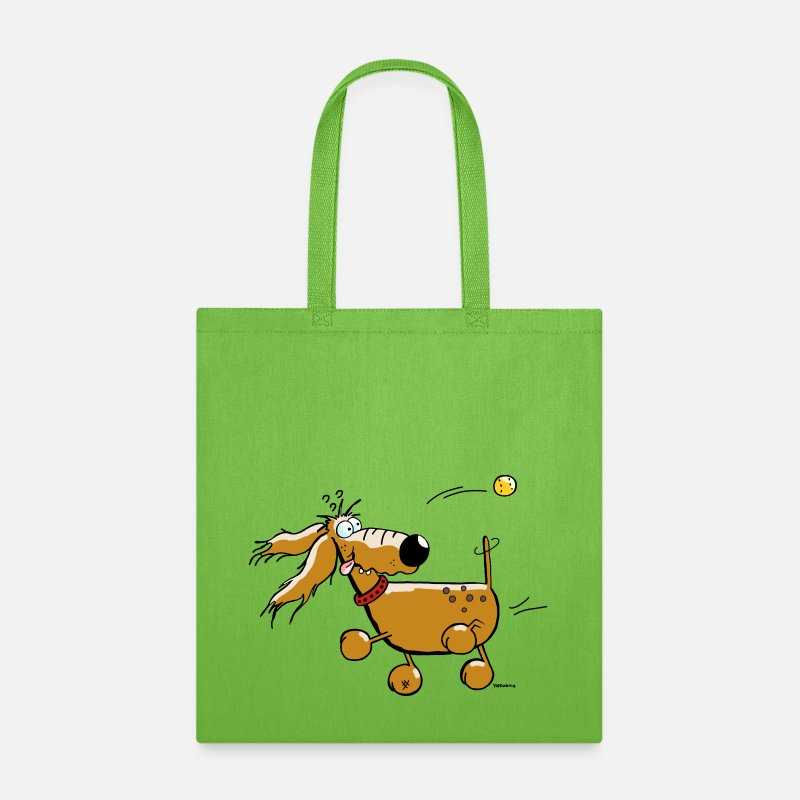 Flyball Bags & backpacks - Funny Dog - Ball - Flyball  - Tote Bag lime green