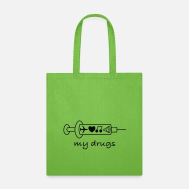 Provoke My Drugs Travel / addicted, bugs, provokative, - Tote Bag