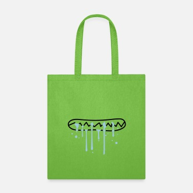 Wet water spit wet eat hunger face bite teeth crunchin - Tote Bag
