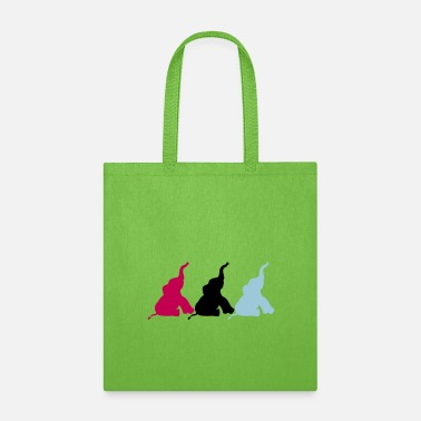 Pattern pattern 3 friends party circus showing fun silhoue - Tote Bag