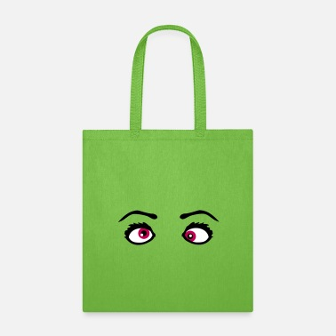 Squint crazy crazy silly psycho stupid squint cool 2 eyes - Tote Bag