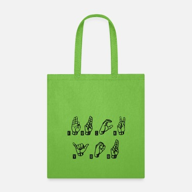 Fuck you sign language slogan - Tote Bag