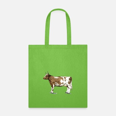 Cow Red Ayrshire Dairy Cow - Tote Bag