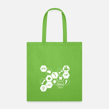 a doctors perspective honeycomb geometric - Tote Bag
