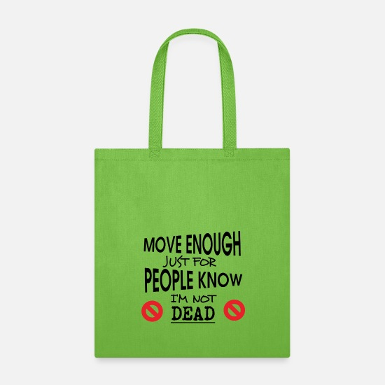Movers Bags & Backpacks - MOVE enough - Tote Bag lime green