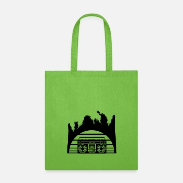 Radio holiday ghettoblaster sun beach sea palms vacation - Tote Bag