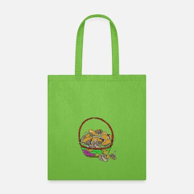 Basket with Mushrooms - Tote Bag