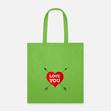 Cuore Love you - Tote Bag