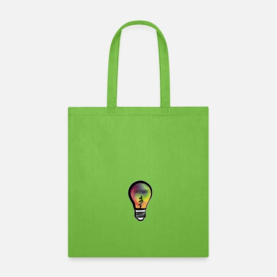 Inspirational Bags & Backpacks - Inspire - Tote Bag lime green