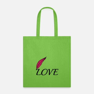 Love Love with feather - Tote Bag