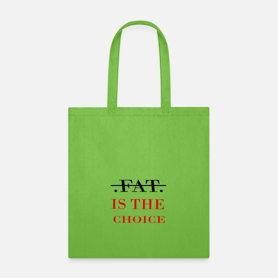 Artist Bags & Backpacks - FAT IS THE CHOICE - Tote Bag lime green