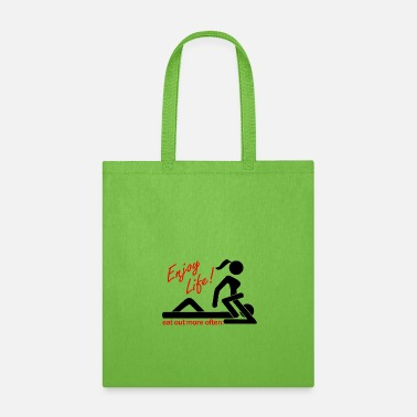 Vagina Enjoy Life Eat Out More Often (Black) - Tote Bag