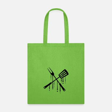 Graffiti graffiti drop blood food grill fork pans tool cutl - Tote Bag