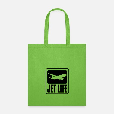 Pilot world travel airplane jetset holiday logo jet life - Tote Bag