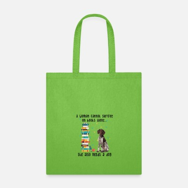 BOOK AND GERMAN SHORTHAIRED POINTER - Tote Bag