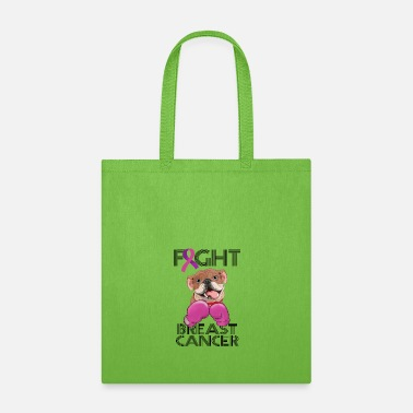 Breast Cancer Month Fight Breast Cancer Bulldog Breast Cancer Month - Tote Bag