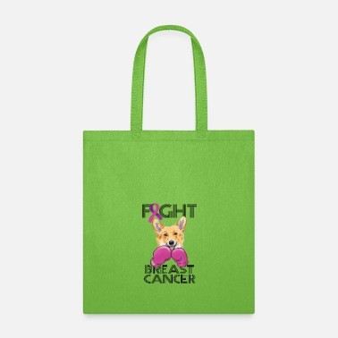 Breast Cancer Month Fight Breast Cancer Corgi Breast Cancer Month - Tote Bag