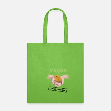 Animal Rights Vegan - for the voiceless (chick) - Tote Bag