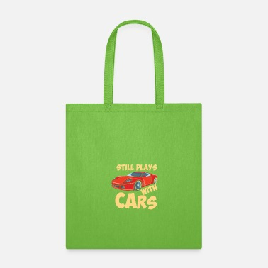 Bold Still Plays With Cars - Tote Bag