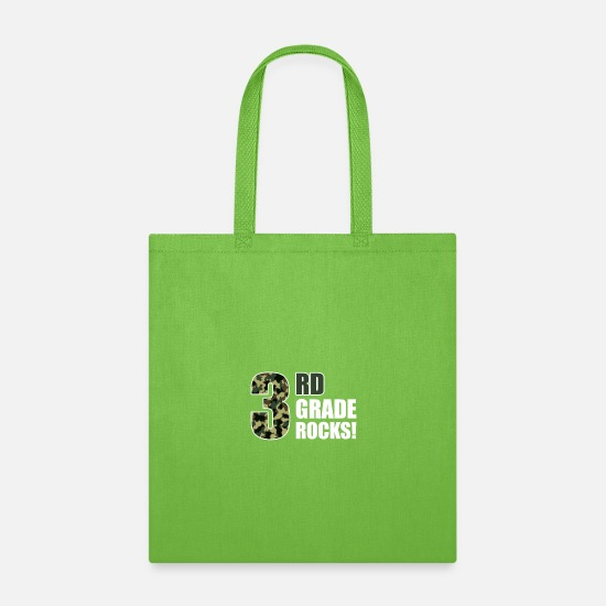 Third Bags & Backpacks - Third Grade Rocks - Tote Bag lime green