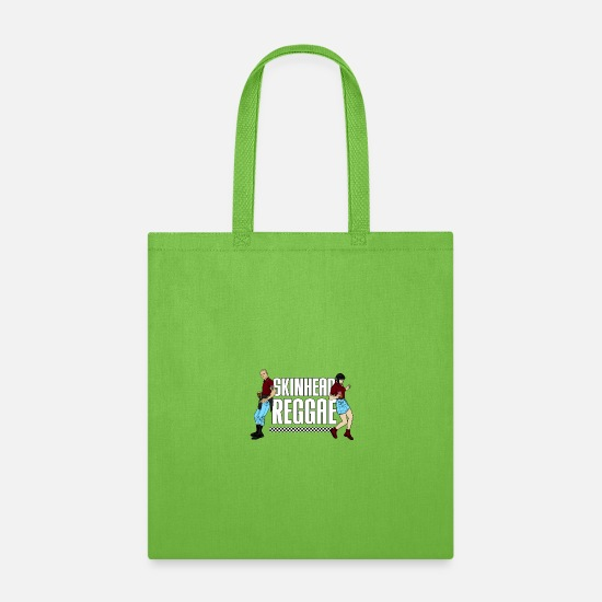 Skinhead Bags & Backpacks - Skinhead Reggae print - AntiRacism Trojan - Tote Bag lime green