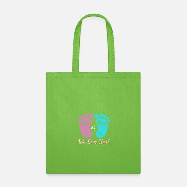 Feet Pink or Blue WE LOVE YOU - Tote Bag