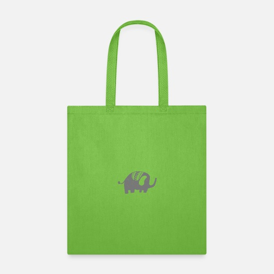 Animated Bags & Backpacks - Animals - Tote Bag lime green