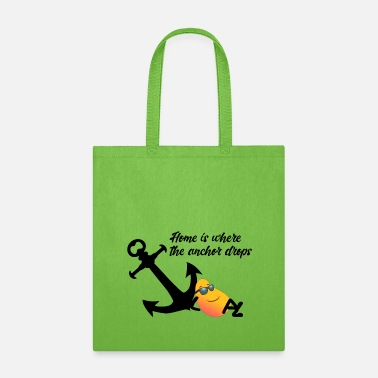 Instagram Mango Sailing - Home is where the anchor drops - Tote Bag