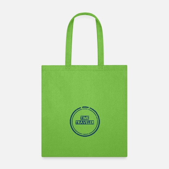 Travel Bags & backpacks - time traveler - Tote Bag lime green
