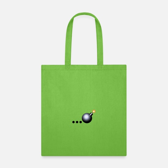 Tick Bags & backpacks - Tick Tick Boom...The Bomb Design - Tote Bag lime green