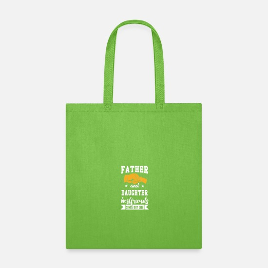 Father And Son Bags & Backpacks - Son And Father - Tote Bag lime green
