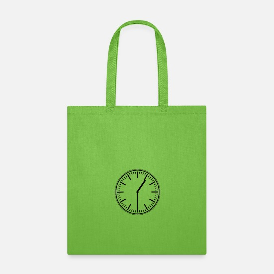 Bus Bags & Backpacks - Clock - Tote Bag lime green