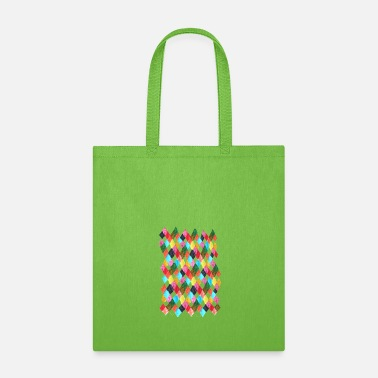 Harlequin multi color Harlequin checkered print - Tote Bag