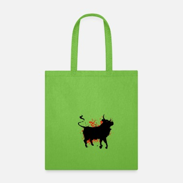 Matador Bull Red color splash - Tote Bag