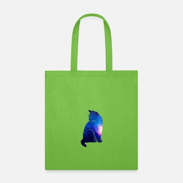 Cat Cat Galaxy Blue - Tote Bag
