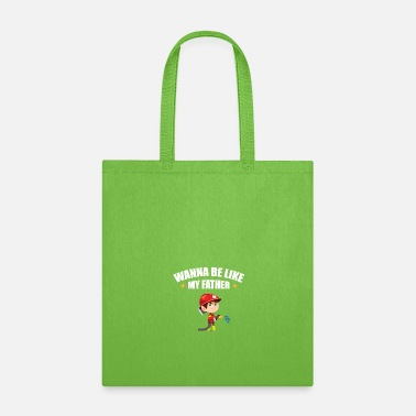 First Responder Young Firefighter - Wanna Be Like My Father - Tote Bag