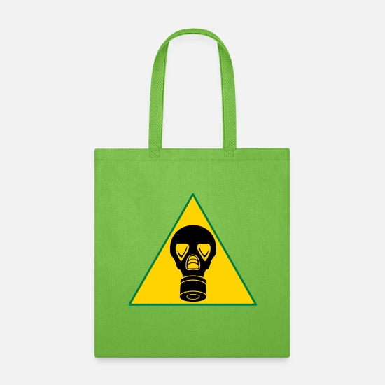 Warning Bags & Backpacks - warning gas simple_vec_3 us - Tote Bag lime green