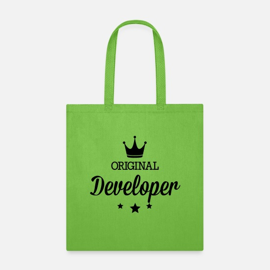 Web Bags & Backpacks - Original developer - Tote Bag lime green