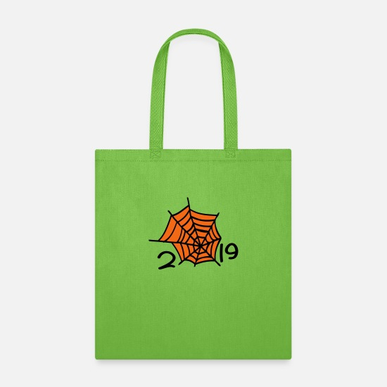 Spider Bags & Backpacks - 2019 spider web - Tote Bag lime green