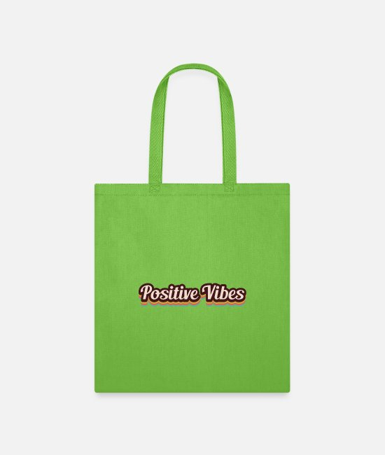 Happy Bags & Backpacks - Positive Vibes - Tote Bag lime green