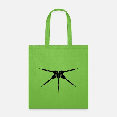 Dart Club Arrow logo club play darts club throw dart arrow sport f - Tote Bag