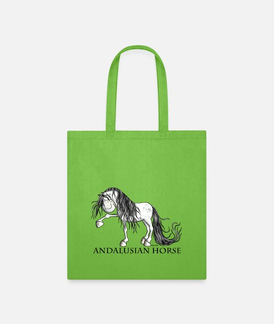 Riding Bags & Backpacks - Happy Andalusian Horse - Pura Raza - Horses - Gift - Tote Bag lime green