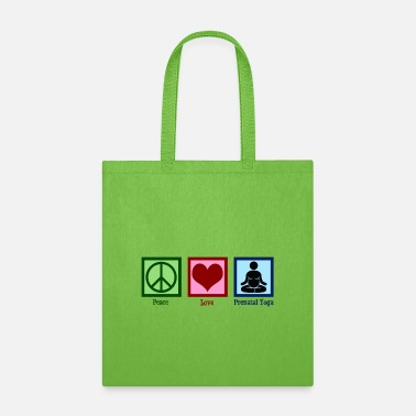 Pregnant Yogi Peace Love Prenatal Yoga - Tote Bag