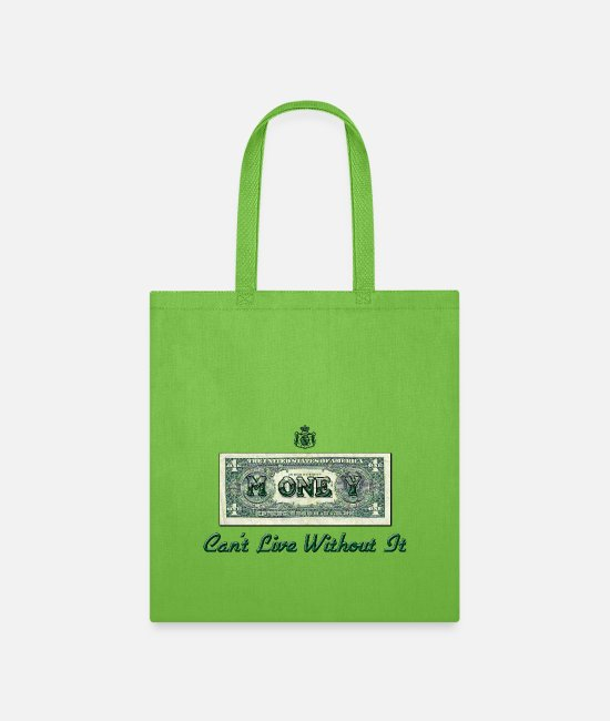 Money Bags & Backpacks - Money - Tote Bag lime green